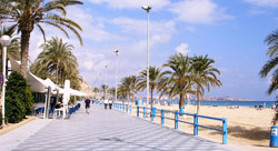 Photo: View of a beach in Alicante, Spain