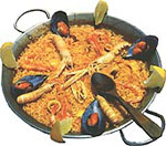 Paella, a traditional dish from Alicante, Spain