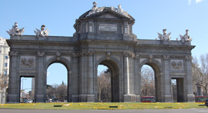 Puerta de Alcalá, one of Madrid's typical monuments