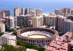 View of 'Plaza de Toros' in Malaga