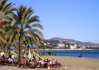 'La Malagueta' beach in Malaga city